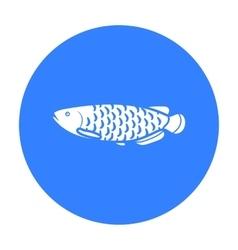 Scleropages fotmosus fish icon black singe vector