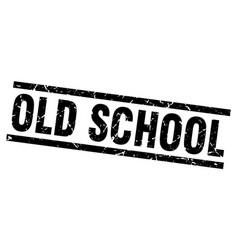 square grunge black old school stamp vector image vector image