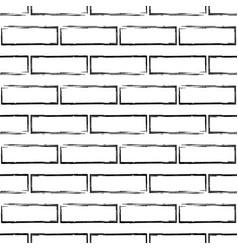 stylized black and white brick wall pattern vector image