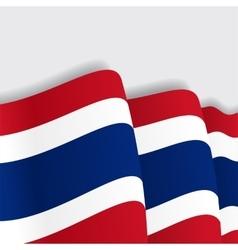 Thai waving flag vector