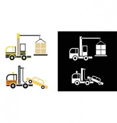 truck crane vector image vector image