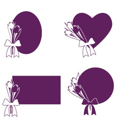 Tulip frames vector image vector image