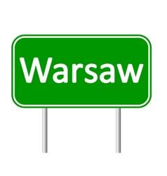 Warsaw road sign vector