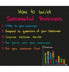 How to run a successful business vector