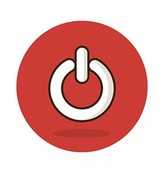 Start icon Power button sign vector image