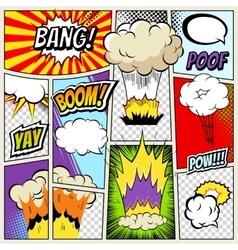 Abstract Creative concept comics pop art vector image