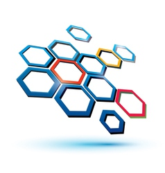 Hexagonal abstract icon vector