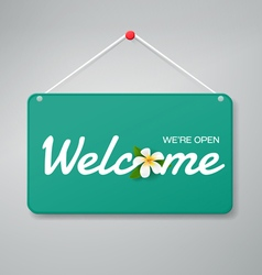 welcome sign vector image