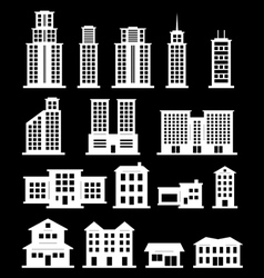 Building set - white vector image