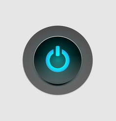 button user interface vector image