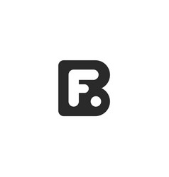 Monogram logo made from black letters b and f vector
