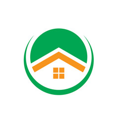 Circle home business logo vector