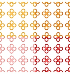 Clover leaf good luck knot seamless pattern vector