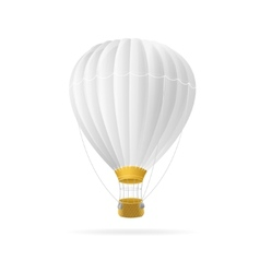 White hot air ballon isolated vector