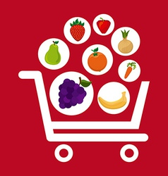 Fruits shopping vector