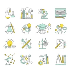 Flat design concept icons on marketing theme vector