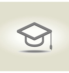 Graduation cap icon vector