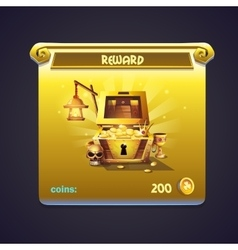 Example of window in a computer game rewards vector image