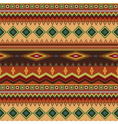 Tribal ethnic seamless stripe pattern on orange vector