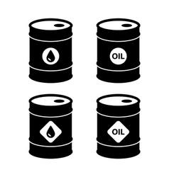 Oil barrel icons vector