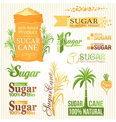 Sugar elements set vector