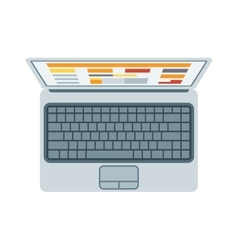 Top view of modern retina laptop keyboard isolated vector