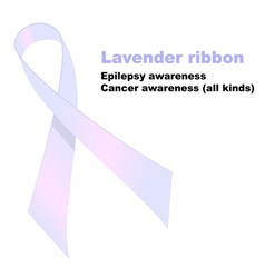 Lavender ribbon vector
