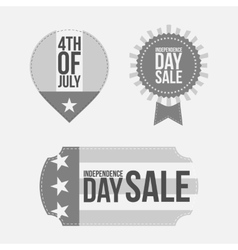 Independence day 4th of july festive banners set vector