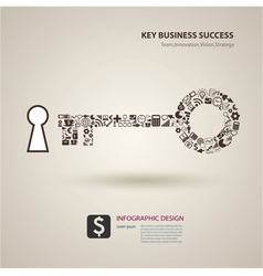 a keys with icons of business as a background vector image