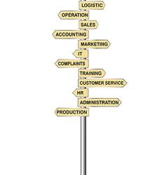 Arrows indicators for company departments vector
