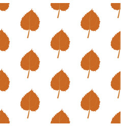 autumn leaves harvest pattern vector image vector image