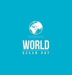 Background of ocean day vector