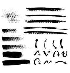 Black brush strokes vector image