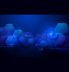 blue abstract technology concept background vector image