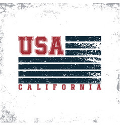california usa typography t-shirt graphics stamp vector image vector image
