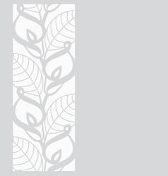Calla lilies border vector