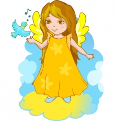 cartoon angel vector image vector image