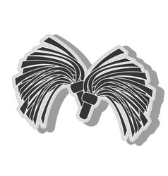 cheerlader pom symbol icon vector image