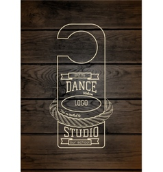Dance studio badges logos and labels for any use vector