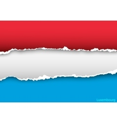 Design flag luxembourg from torn papers with vector
