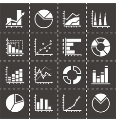 Diagrams icon set vector image