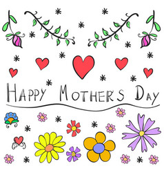 Doodle mother day art vector
