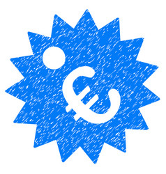 euro price tag grunge icon vector image