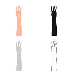 gesture single icon in cartoon stylegesture vector image vector image