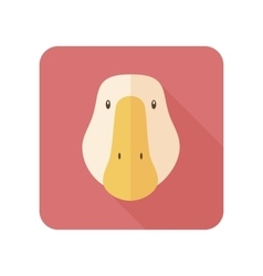 Goose flat icon with long shadow vector image