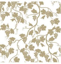 grape garden seamless pattern nature branch vector image vector image