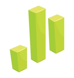 Green grraph icon cartoon style vector image