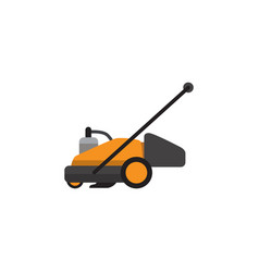 Isolated grass-cutter flat icon lawn mower vector
