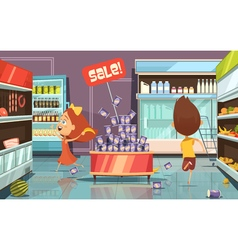 Kids In A Shop vector image
