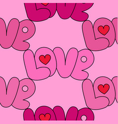 Love pink seamless pattern vector